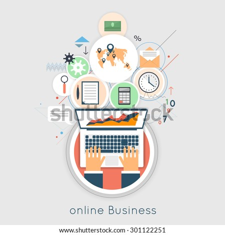 internet business concept. on...