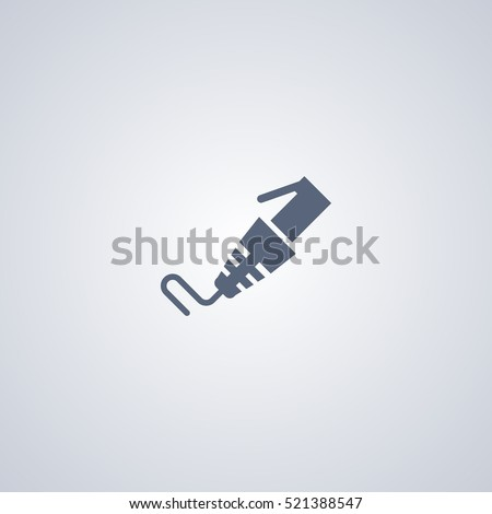 Internet cable icon, patch cord icon
