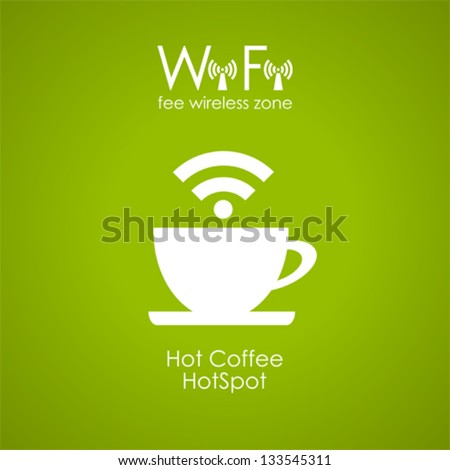 Internet cafe poster design, vector illustration