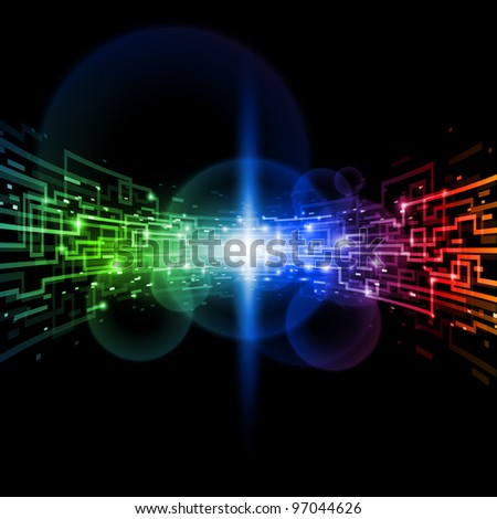 Internet concept, technology-style background. Illustration for design