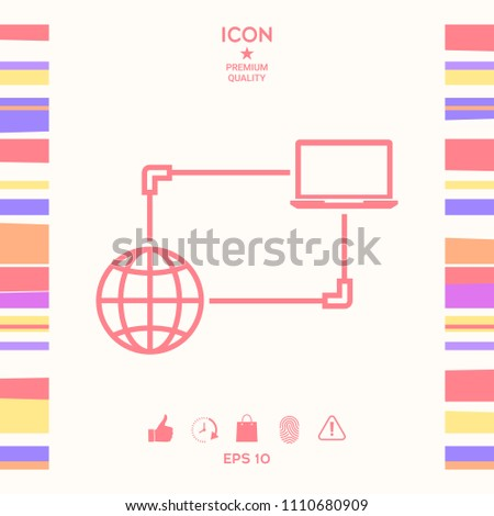 Internet connection, Data Exchange, Transfer Concept  Icon