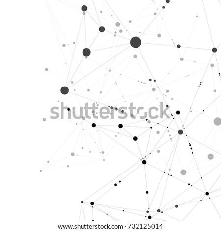 Internet connection geometric shapes. Vector graphic design.