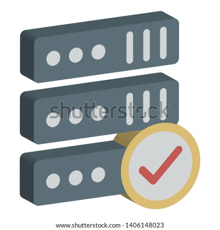 Internet connection, internet server Isolated Vector Icon