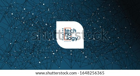 Internet connection network high digital technology. Abstract geometric background with connecting points and lines. Vector illustration