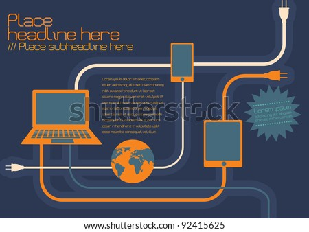 internet connection template vector/illustration  - stock vector