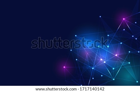 Internet connection, with neon effect, technology background. digital science technology concept. Digital technology backdrop. Vector illustration