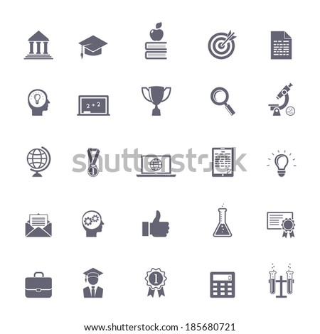 internet education icons vector