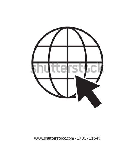 internet - globe icon design template vector on a white background Stockfoto ©