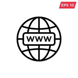 internet - globe icon vector design template