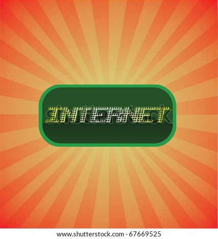 Internet glossy vector icon