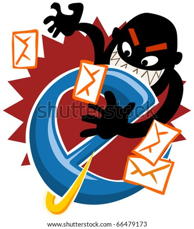 Internet Hack, security on the web. Vector Illustration.