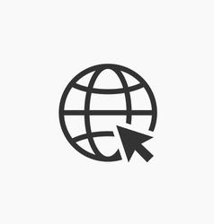 Internet icon.Go to web sign. Internet symbol.