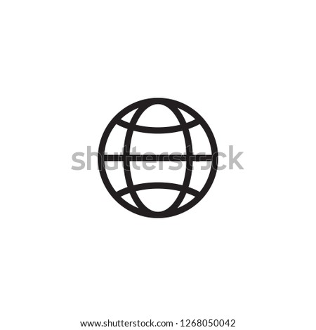 Internet icon. Go to web sign. Internet symbol. Internet icon vector. Internet symbol design.