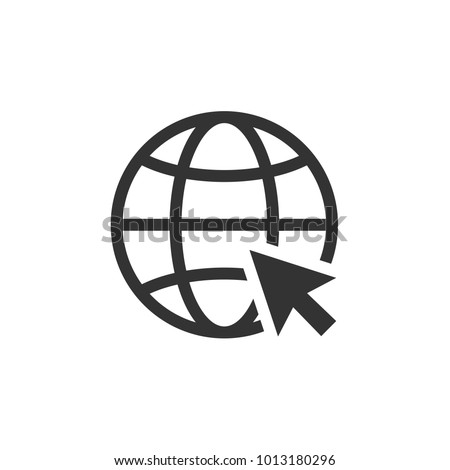 Internet icon. Go to web sign vector illustration.