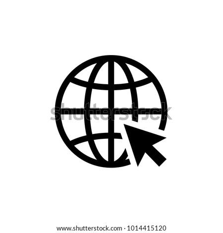 Internet icon. Go to web sign vector illustration. Internet browser symbol.