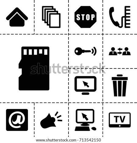 internet icon set of 13 filled
