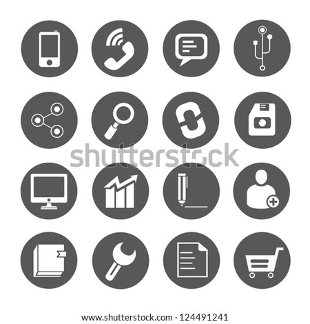 internet icon, social media icon set