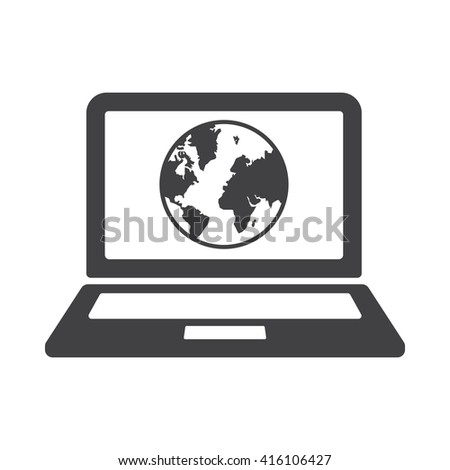 Internet Icon Vector Illustration on the white background.