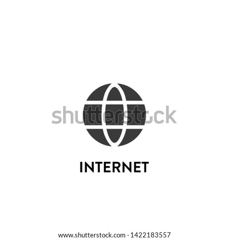 internet icon vector. internet vector graphic illustration