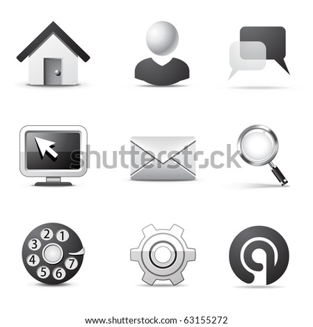 Internet icons | B&W series