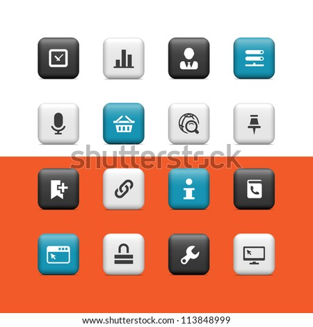 Internet icons. Buttons