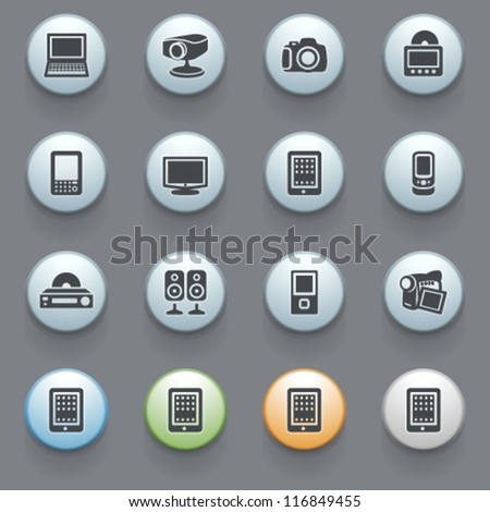 Internet icons for web site, set 8.