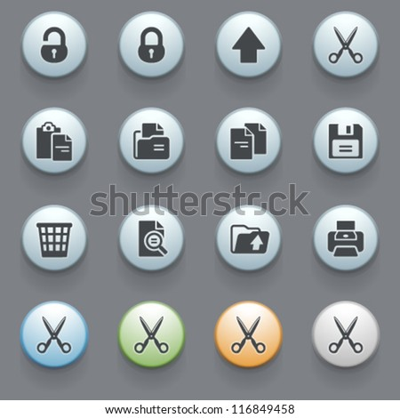 Internet icons for web site, set 9.