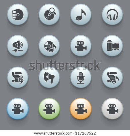 Internet icons for web site, set 13.