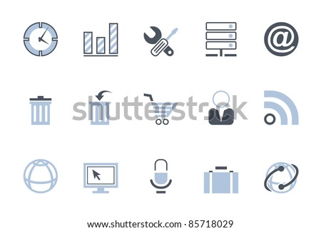 Internet icons | LSB series - stock vector