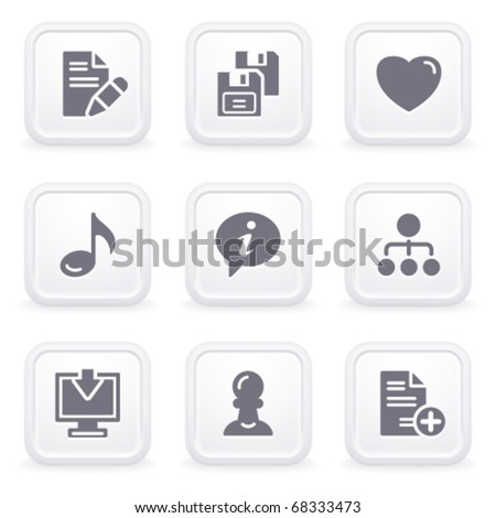 Internet icons on gray buttons 10