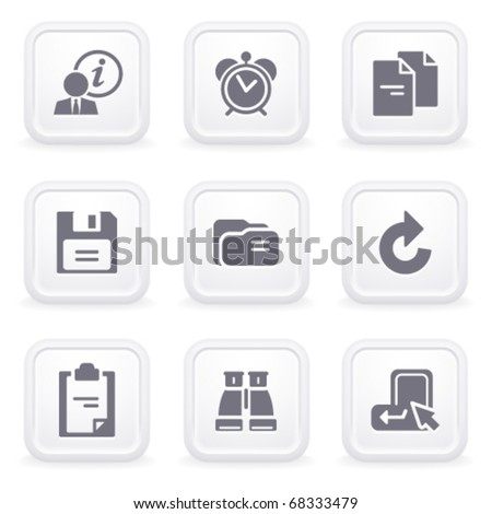 Internet icons on gray buttons 3