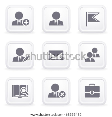 Internet icons on gray buttons 1