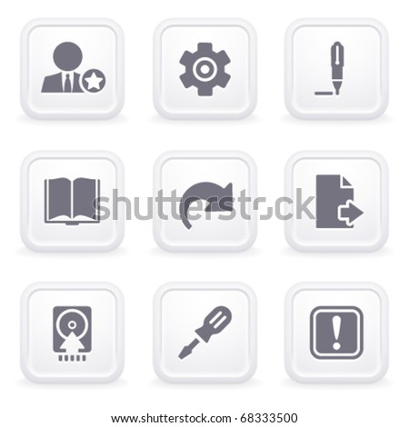 Internet icons on gray buttons 6