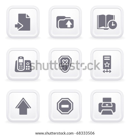 Internet icons on gray buttons 4