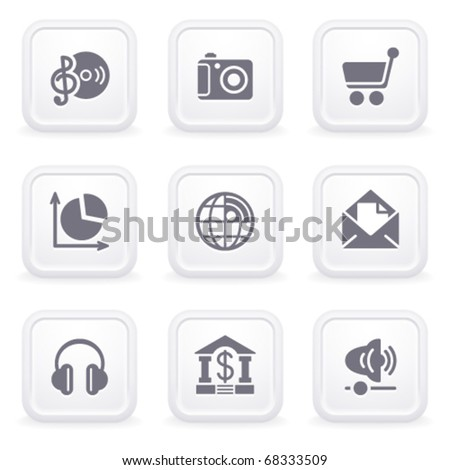Internet icons on gray buttons 5