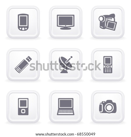 Internet icons on gray buttons 16