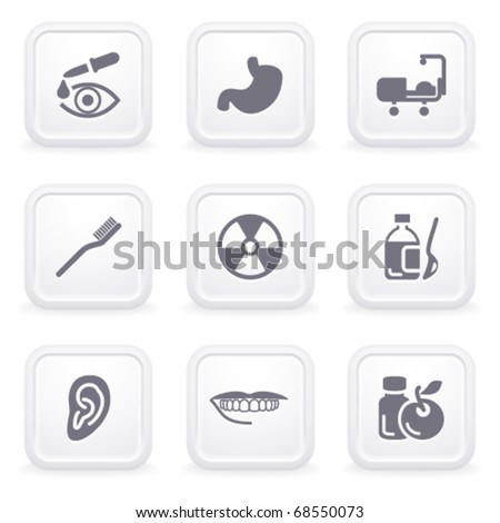 Internet icons on gray buttons 15