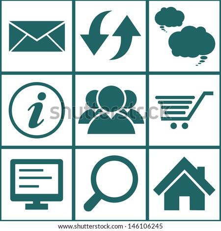Internet icons set. Illustration eps 10