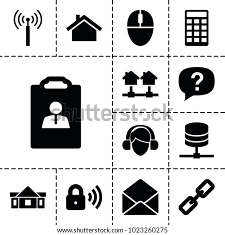 internet icons set of 13