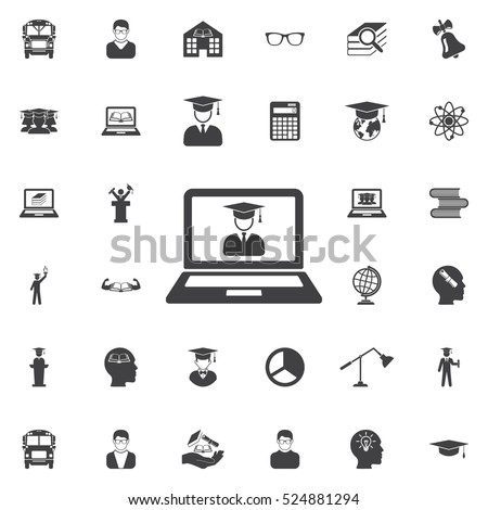 Internet learning virtual on-line education icon. Education icons universal set for web and mobile