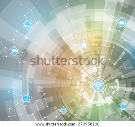 Internet of things, abstract image, vector illustration