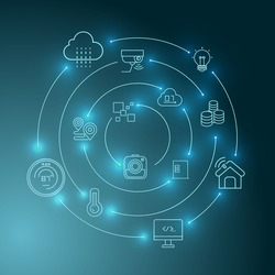 internet of things and smart home concept background
