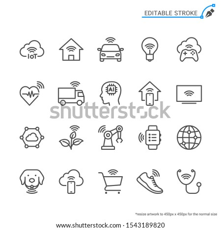 internet of things line icons