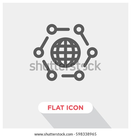 Internet of things vector icon, IOT symbol. Modern, simple flat vector illustration for web site or mobile app