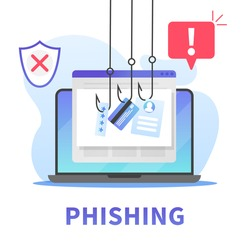 Internet phishing, stealing credit card data, account password and user id. Concept of hacking personal information via internet browser or mail. Internet securuty awareness