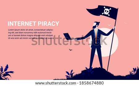 internet piracy   businessman