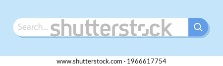 Internet search bar. An isolated search engine. Information search system. Vector illustration