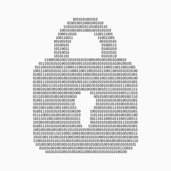 Internet security concept made with binary code drawing a padlock