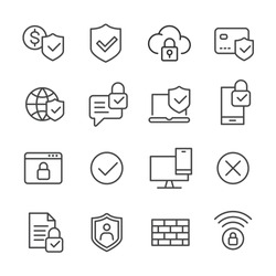 Internet Security - Line Icons