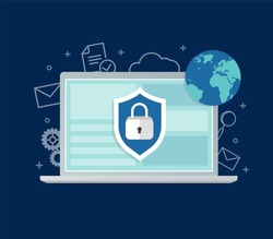 Internet Security VPN Concept Icon